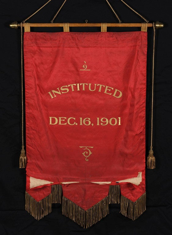 Elaborate Silk Banner with Gilded Text of George Washington For Sale 5