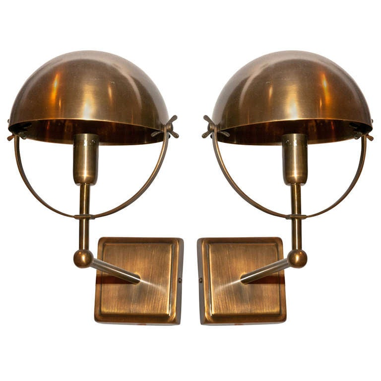 Wall Sconces Brass : Brass Wall Sconces at 1stdibs