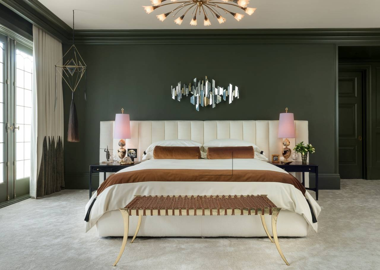 Custom California King Bed By William Wick At 1stdibs