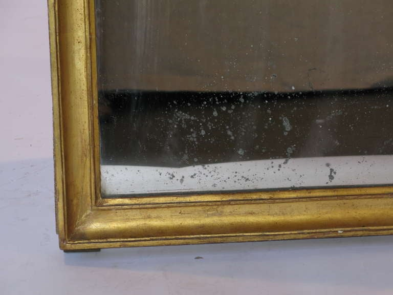 Large gold wood frame mirror at 1stdibs for Large gold floor mirror