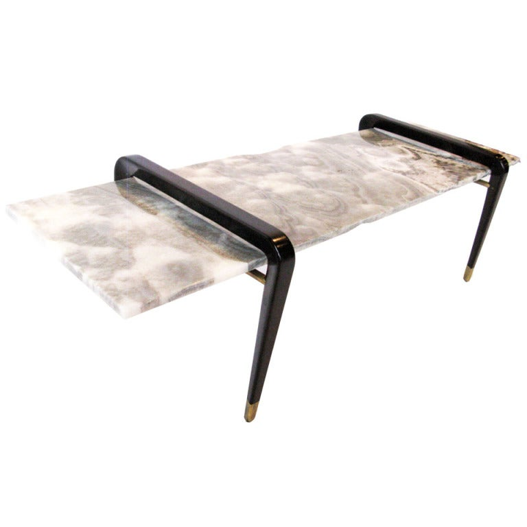 Small Black Onyx Table At 1stdibs