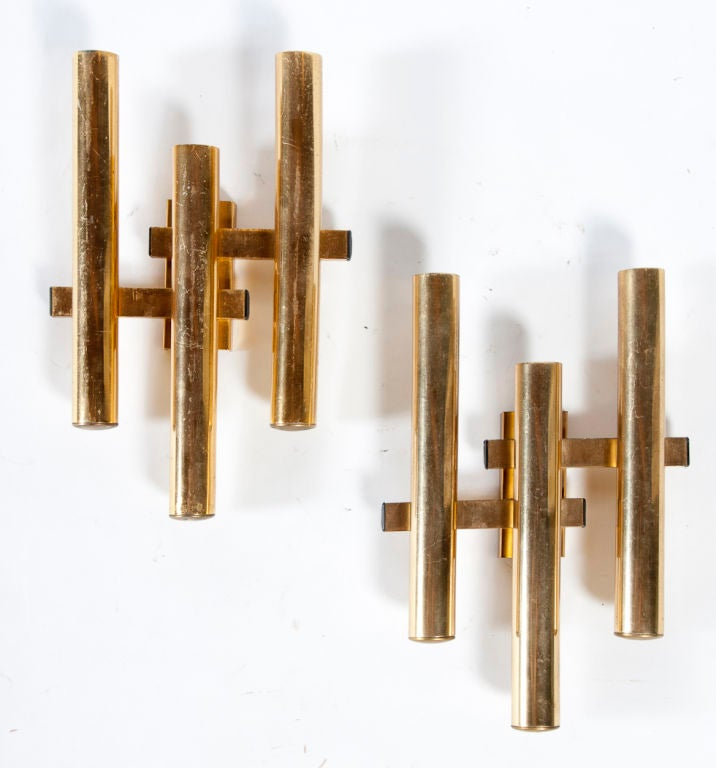 Decorative Cool Wall Brass Sconces at 1stdibs