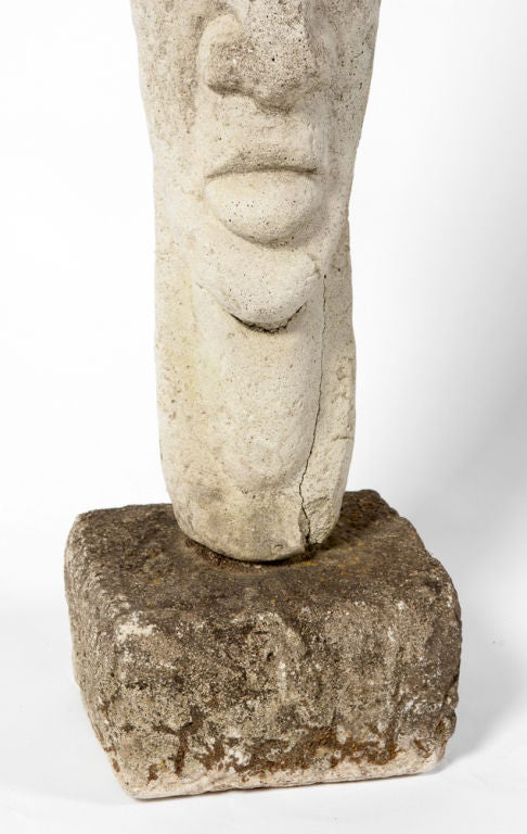 Decorative Stone Art : Primative decorative stone sculpture at stdibs