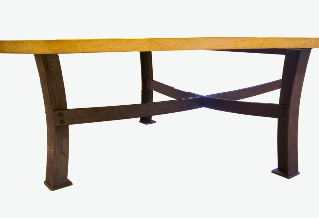 Rustic oval dining table french oak 10ft at 1stdibs for 10 ft dining room table