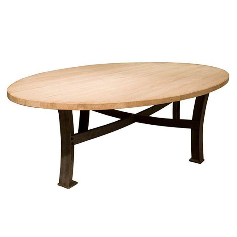 Rustic Oval Dining Table French Oak 10ft At 1stdibs