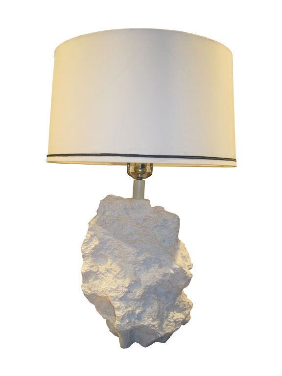 Plaster Cast Wall Lights : White Cast Plaster Table Lamps at 1stdibs