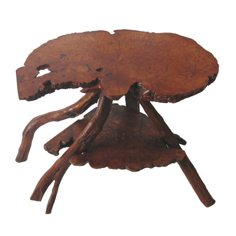 Burl Wood Side Tables At 1stdibs