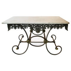 Ornate Table with Marble Top