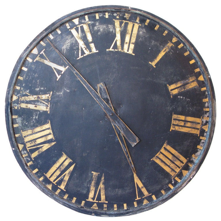 Large roman numeral clock at 1stdibs - Large roman numeral wall clocks ...