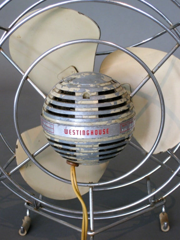 Machine Age Table Fan by Westinghouse c.1940s image 6