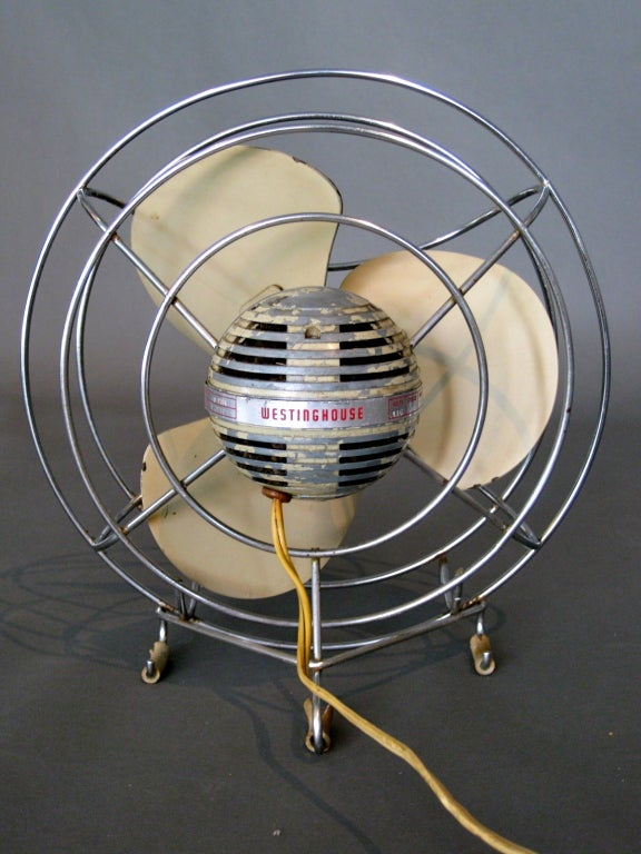 Machine Age Table Fan by Westinghouse c.1940s image 7