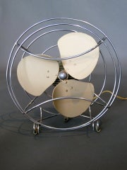 Machine Age Table Fan by Westinghouse c.1940s thumbnail 2