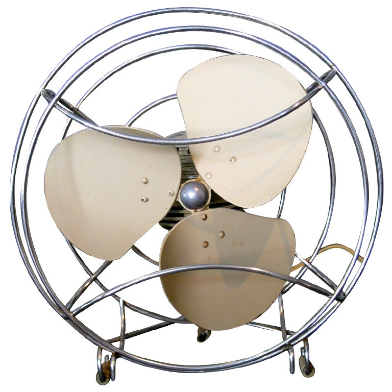 Machine Age Table Fan by Westinghouse c.1940s