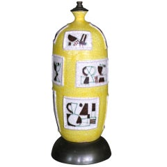Monumental Guido Gambone Ceramic Lamp