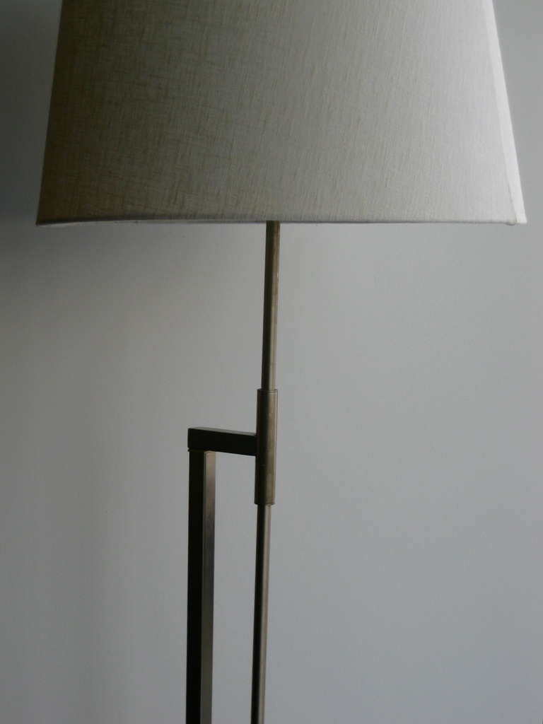 adjustable height minimalist floor lamp by laurel at 1stdibs. Black Bedroom Furniture Sets. Home Design Ideas