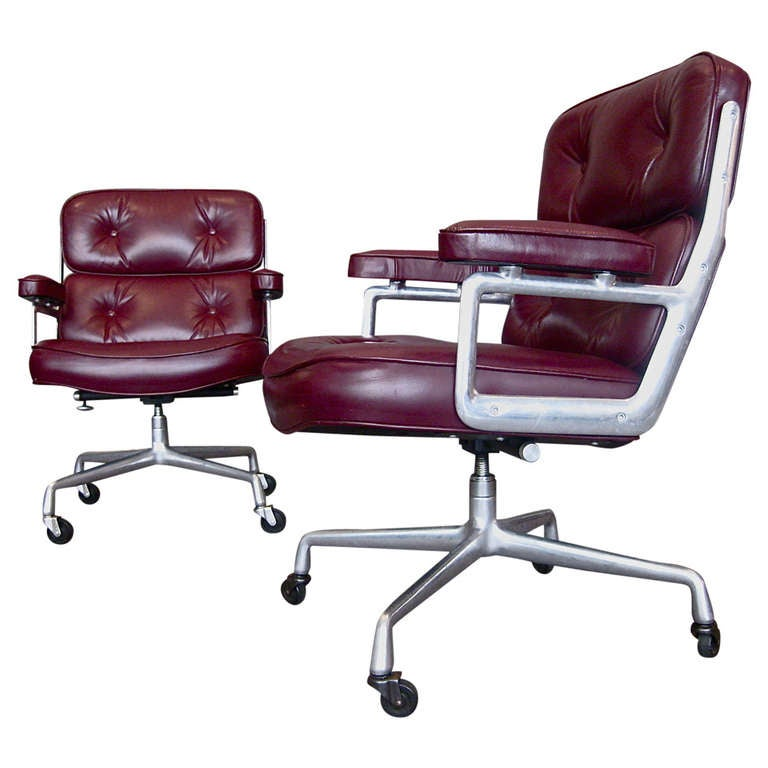 Charles eames time life desk chair w original leather at 1stdibs - Eames office chair original ...