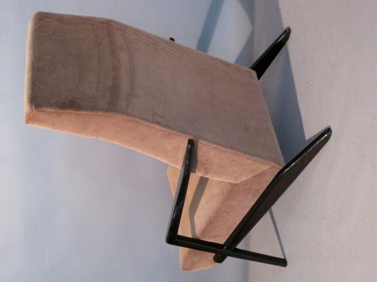 abel sorensen high back lounge chair c 1950 s at 1stdibs