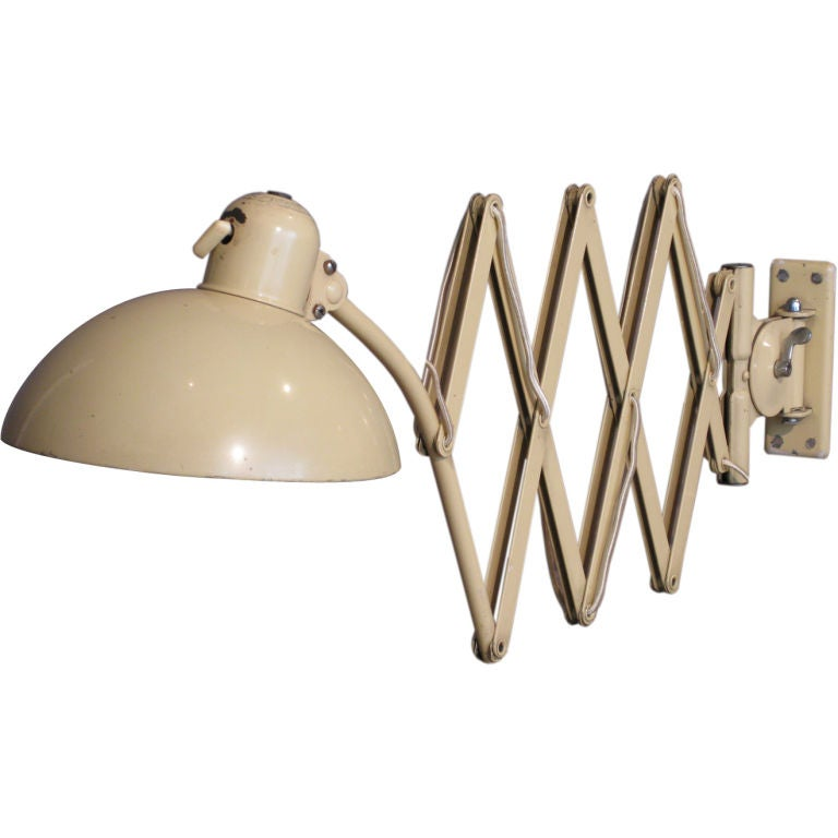 Wall Mounted Scissor Lamp : Christian Dell Wall-Mounted