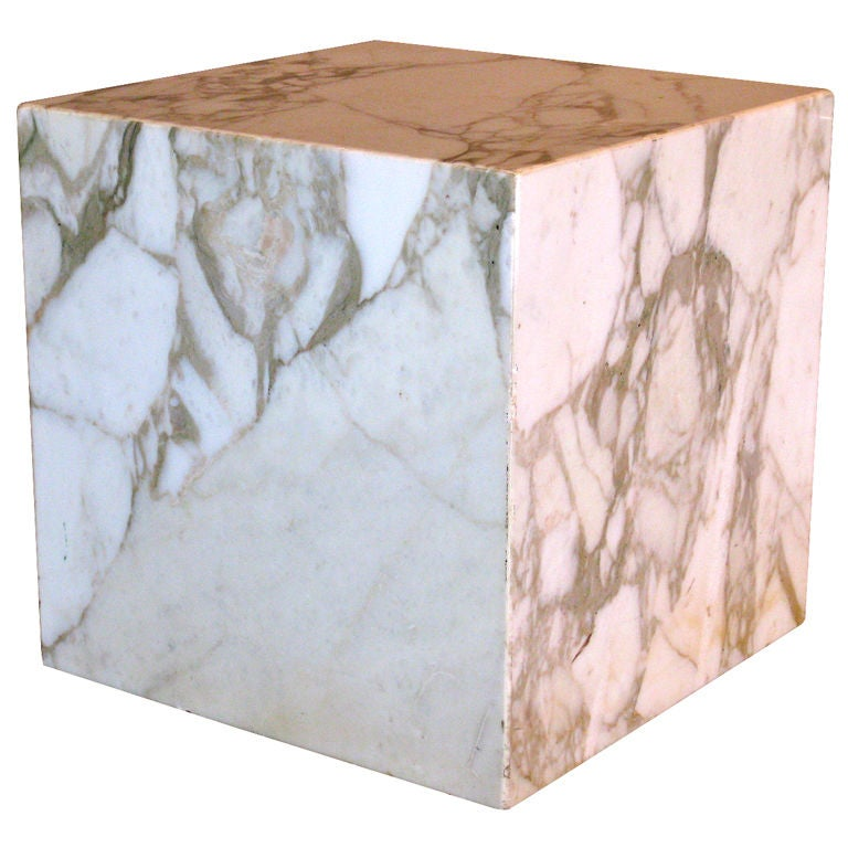 Pace Collection Marble Cube Table C 1970 S Signed At 1stdibs