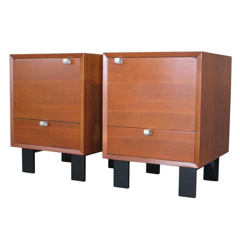 Pair George Nelson Night Stands For Herman Miller Model No
