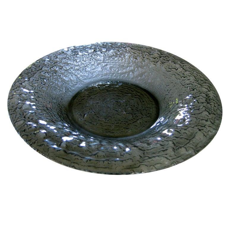 Large glen lukens glass centerpiece bowl c at stdibs
