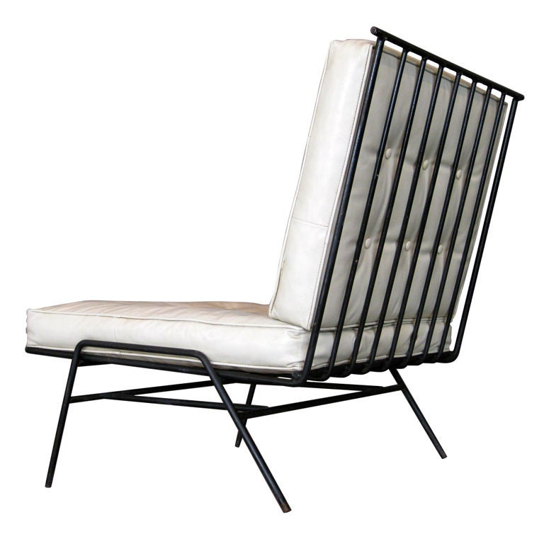 Paul McCobb Attribution Wrought Iron Lounge Chair c 1950 s at 1stdibs