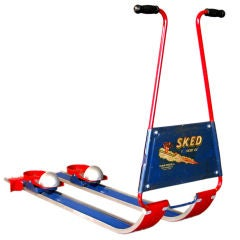 "SKED ""The Rocket Ski"" Children's Snow Ski c.1950's"