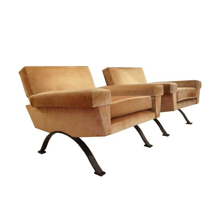 A Pair of Modernist Club Chairs by Augusto Bozzi for