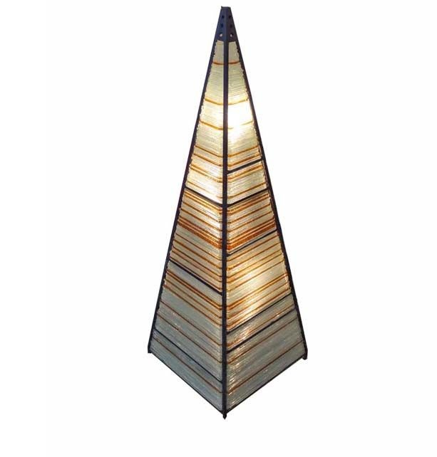 A Large Lit Pyramid Shaped Table Lamp By Poliarte At 1stdibs