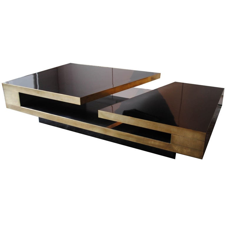 A rare cocktail table by phillippe jean at 1stdibs for Center table coffee table