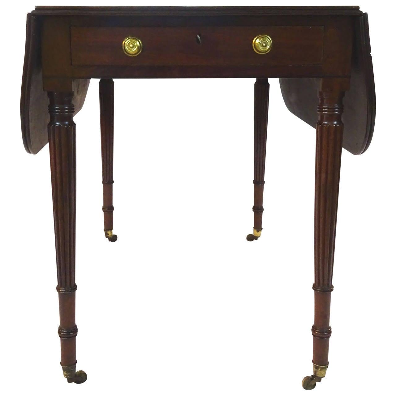 19th Century English Regency Mahogany Pembroke Table At