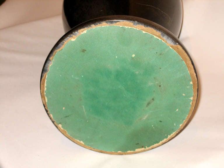 Heavy Black Granite Vase 5