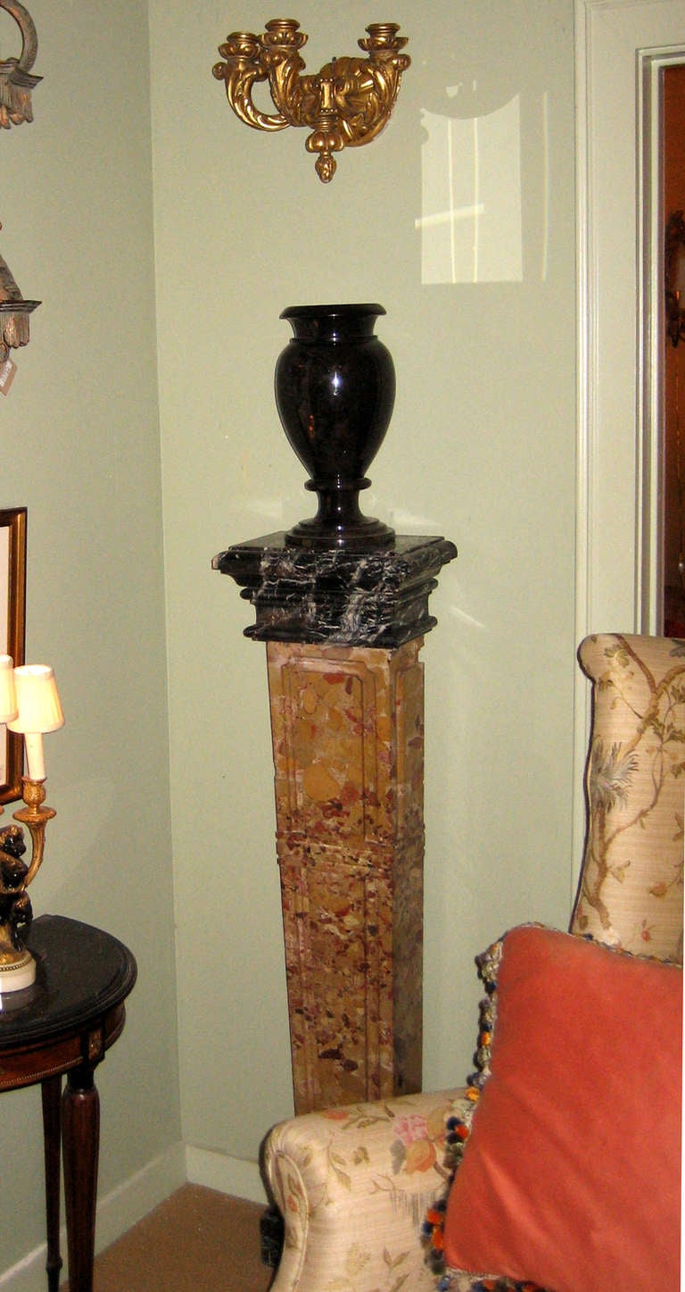 Heavy Black Granite Vase 6