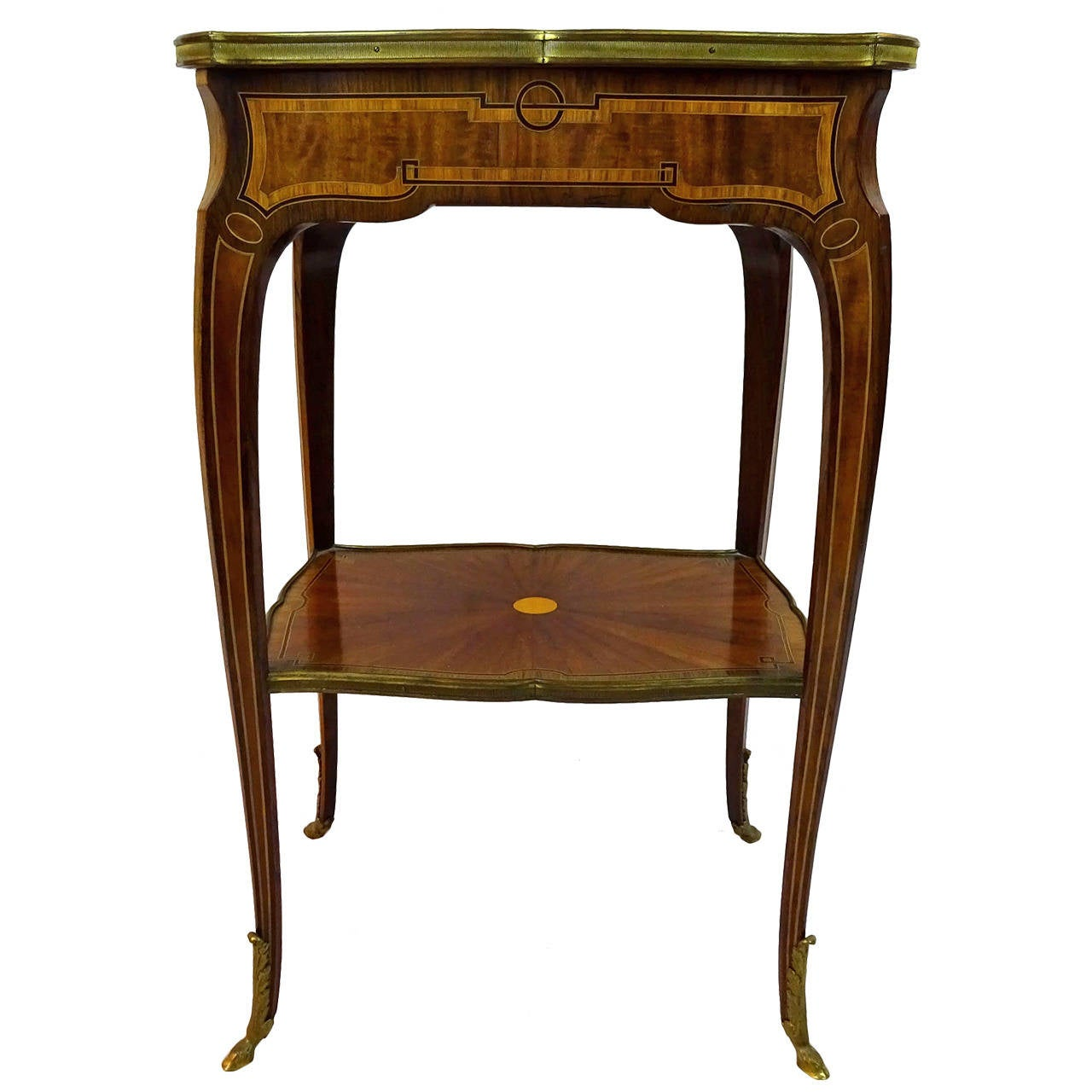 19th century louis xv style marquetry side table for sale at 1stdibs - Table louis xv ...