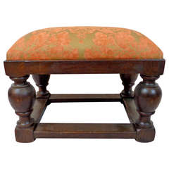 Early 20th Century English Tudor Style Footstool