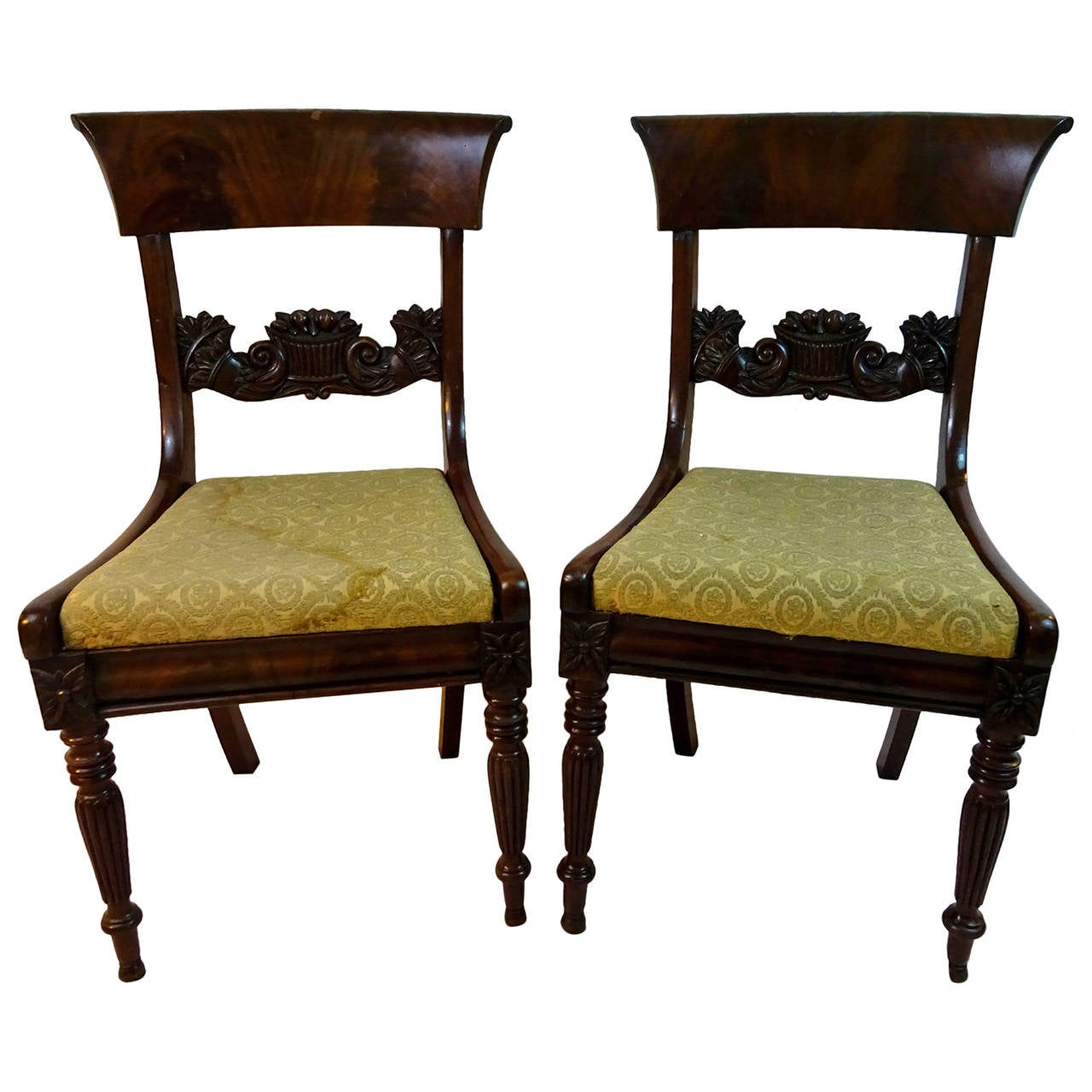 Pair of 19th Century American Federal Style Chairs after