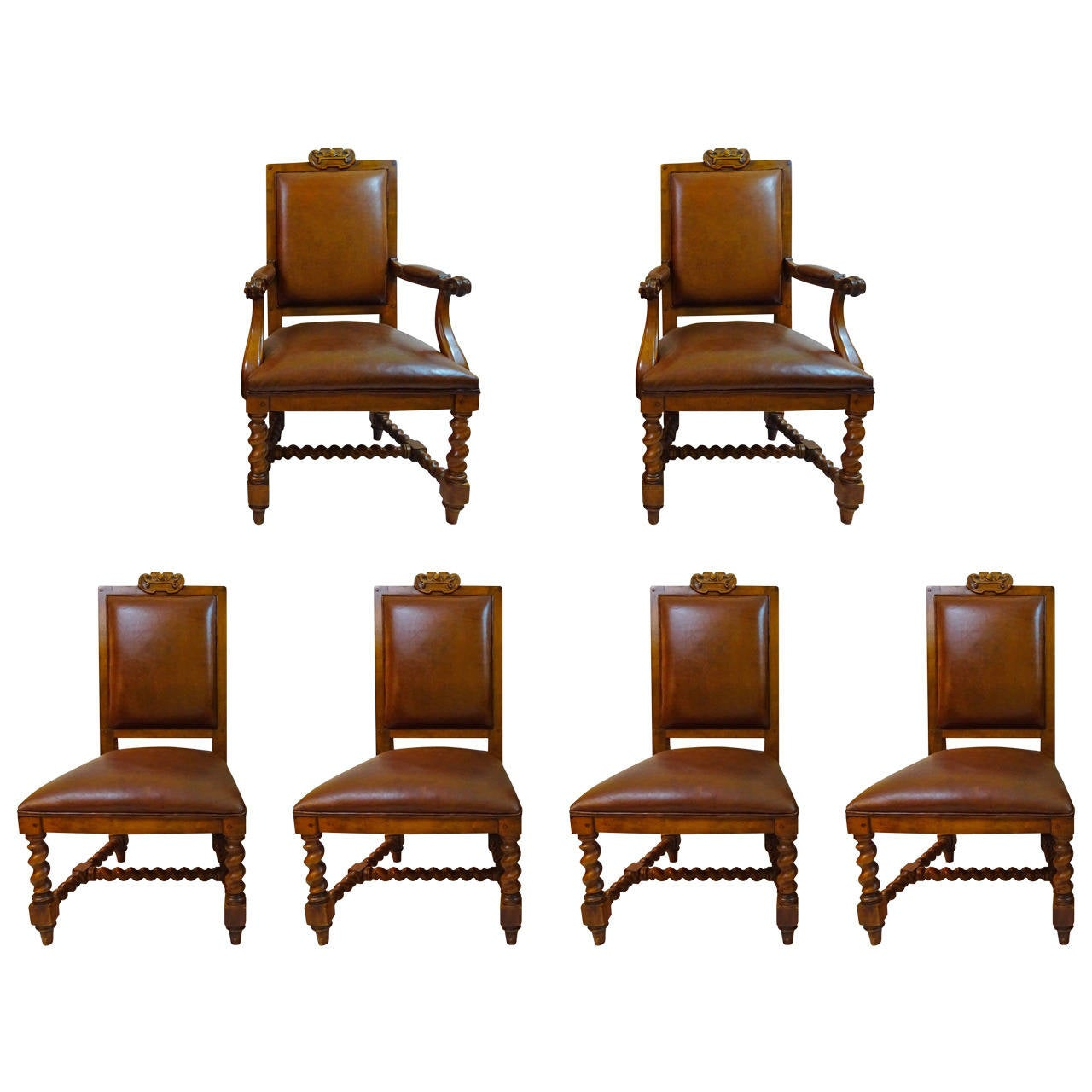 Set of six 20th century dining chairs by ralph lauren at for Dining room chairs set of 6