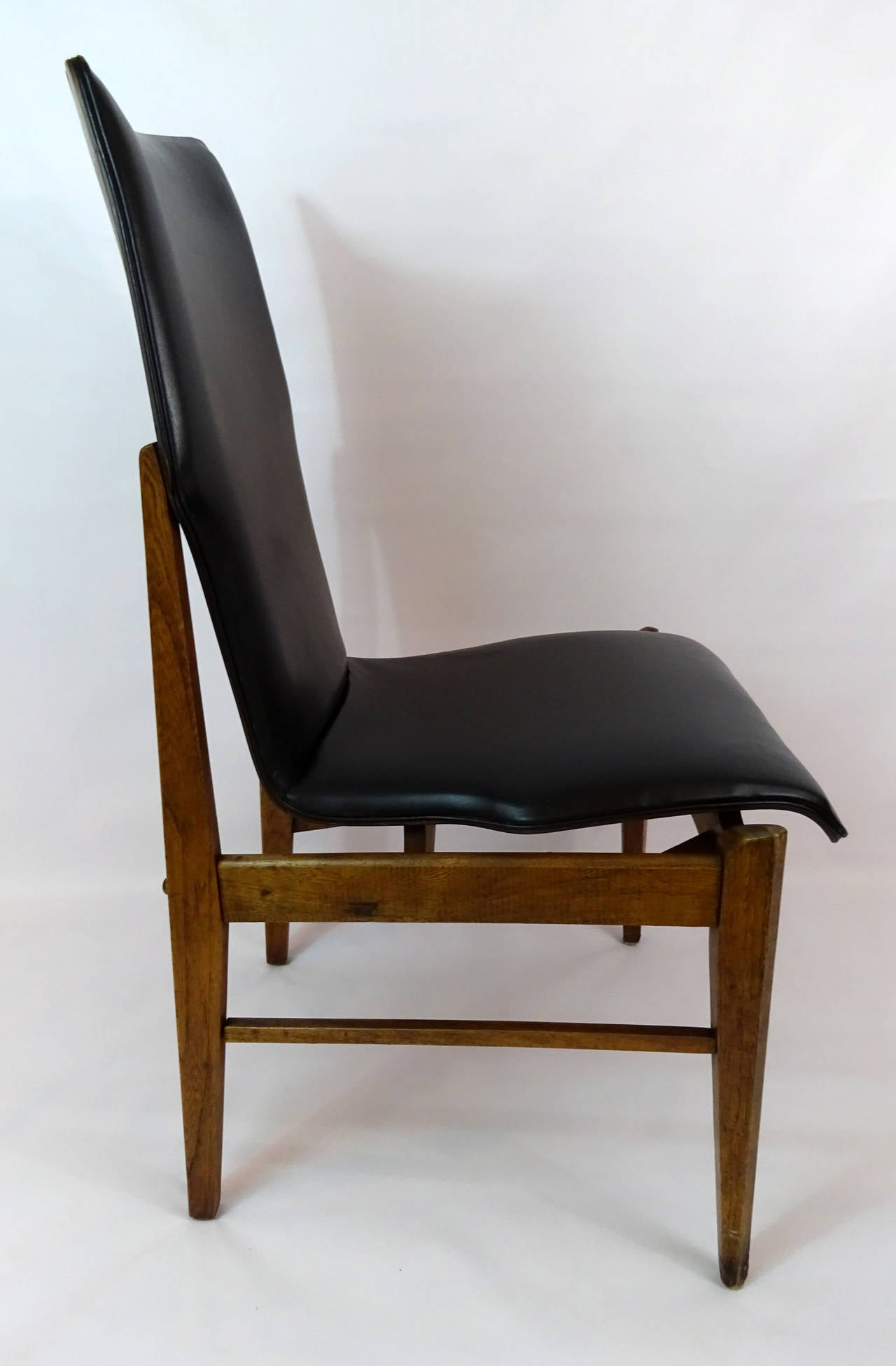 mid century modern side chair circa 1960 at 1stdibs. Black Bedroom Furniture Sets. Home Design Ideas