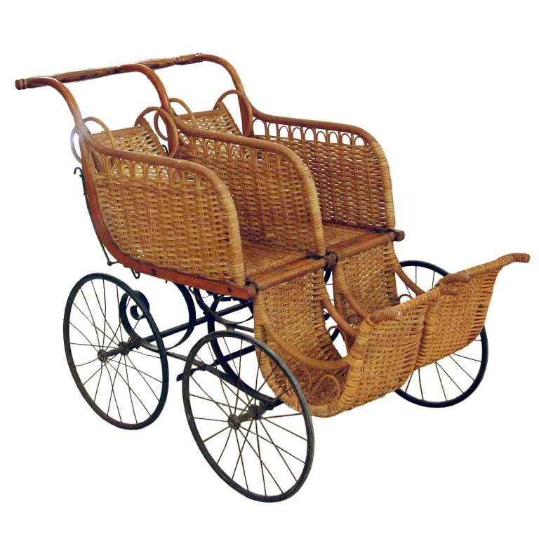 Heywood American Twin Baby Carriage