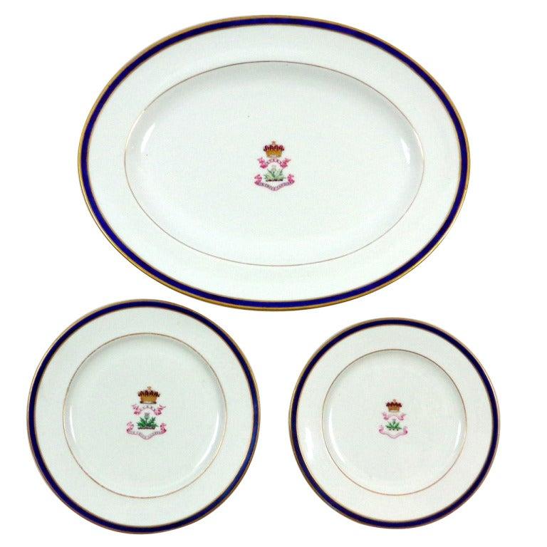 Set of 9, 19th Century Porcelain Dishes by Wedgwood, Copeland