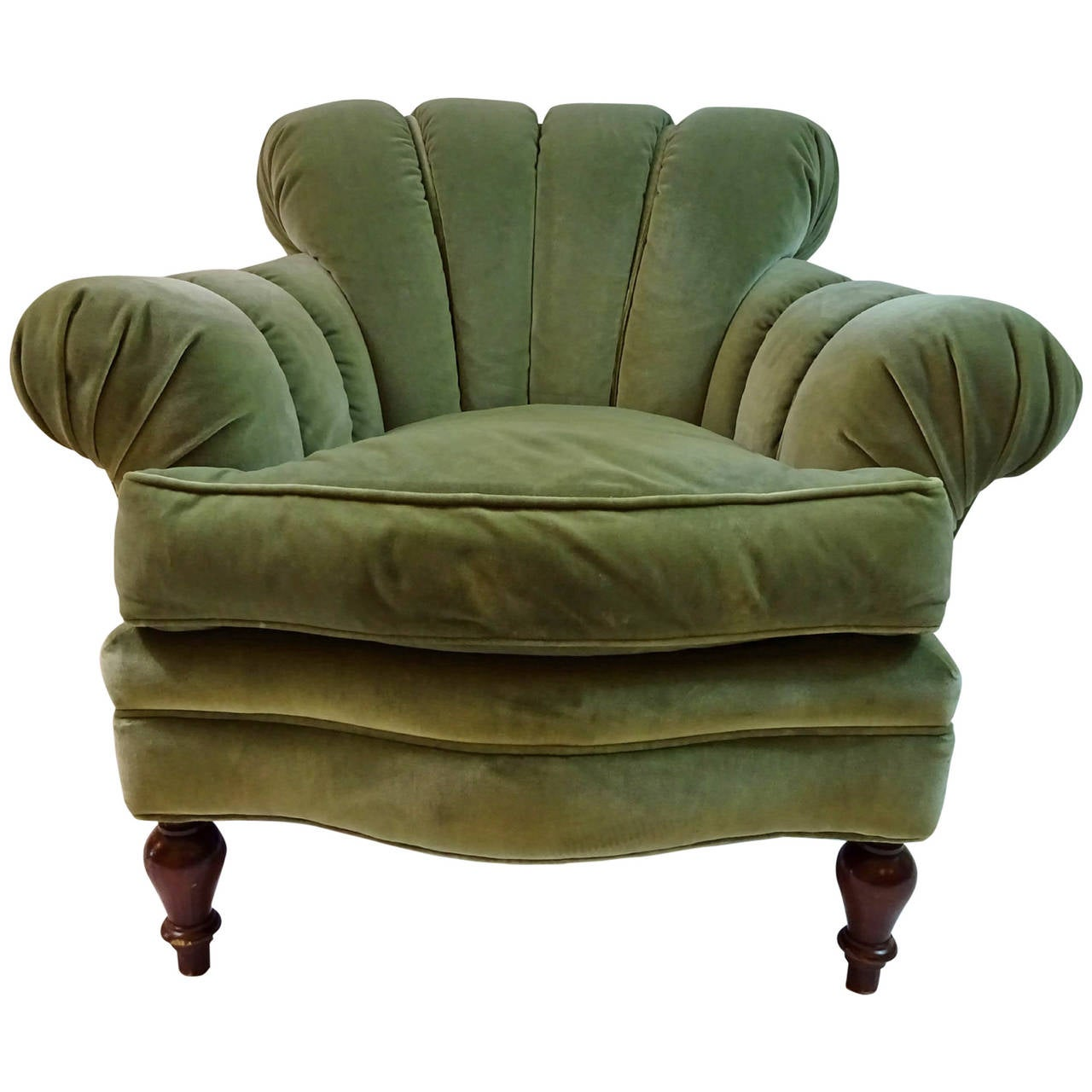 Late 20th C Art Deco Style Club Chair At 1stdibs