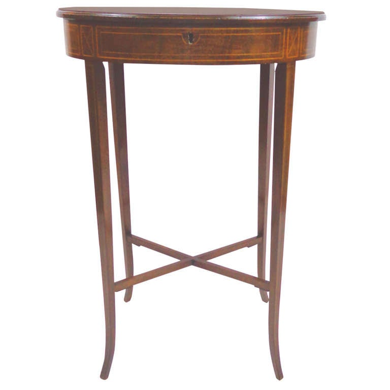 19th c english oval table with flip up top at 1stdibs for Table th rotate