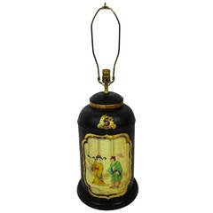 Late 19th Century English Tea Canister Lamp