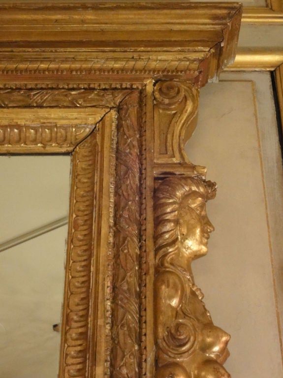 Large size italian gilt wood framed mirror for sale at 1stdibs Large wooden mirrors for sale