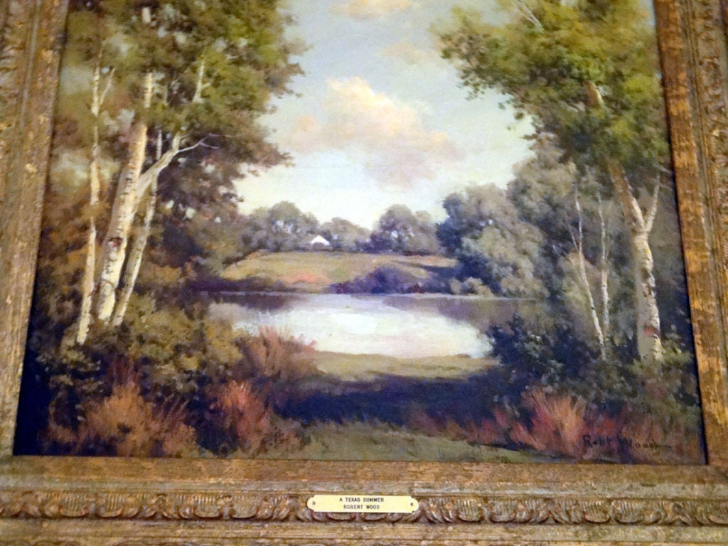 Painting by robert wood at 1stdibs for Mural art on wood