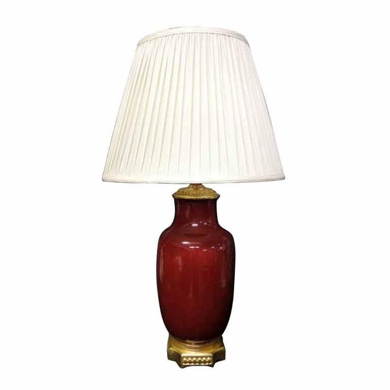 Oxblood Lamp With Ormolu Mounts At 1stdibs