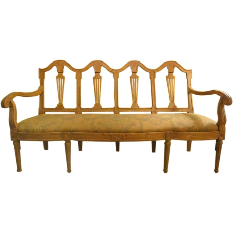 Italian chair back settee for sale at 1stdibs for Settees for sale