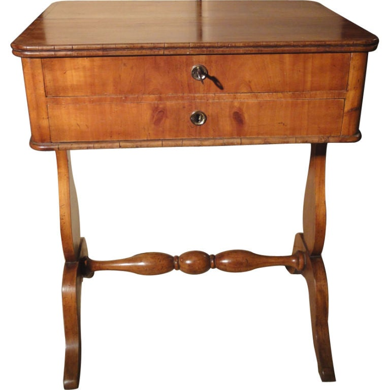 French Cherrywood Sewing Table At 1stdibs