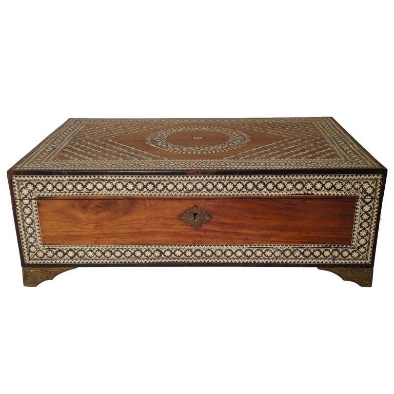 Decorative Bone Boxes : Box with intricately inlaid bone decoration at stdibs