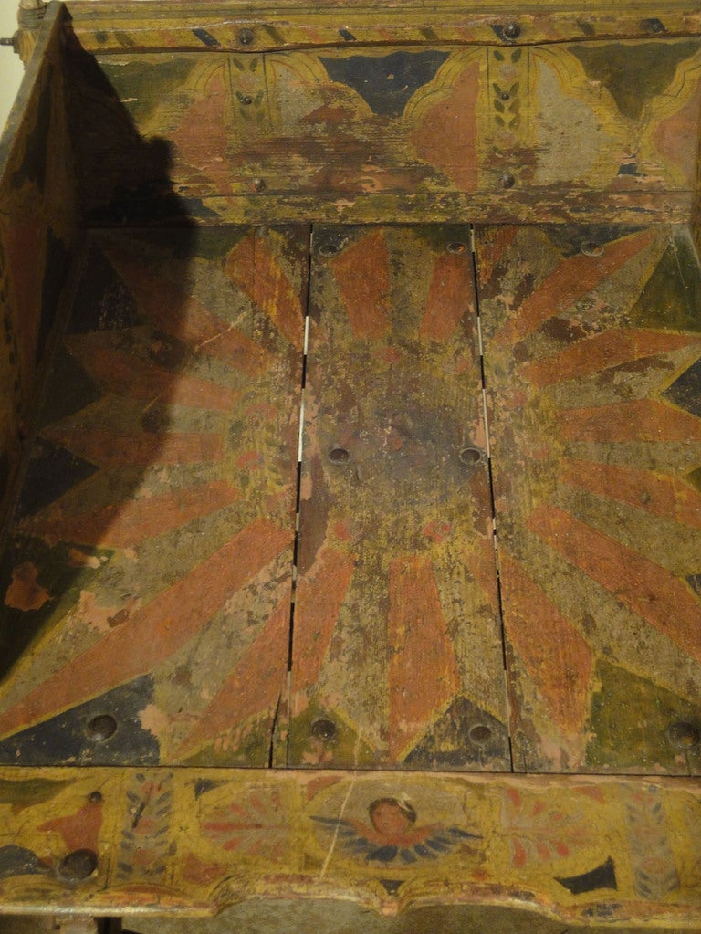 Decorated Sicilian Carved & Painted Donkey Cart 5
